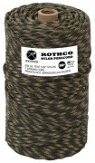Rothco Nylon Paracord 550lb 300 Ft Tube Woodland Camo 328