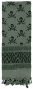 Rothco Skulls Shemagh Tactical Desert Scarf Foliage Green 8539