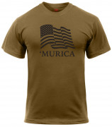 Rothco 'Murica US Flag Athletic Fit  T-Shirt 2923