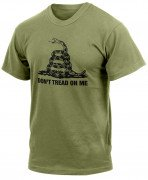 Rothco Don't Tread On Me Vintage T-Shirt Olive Drab 67707