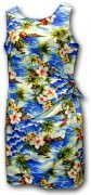 Pacific Legend Hawaiian Sarong Dress - 313-3238 Blue