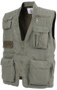 Rothco Deluxe Safari Outback Vest Olive Drab 7580