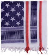 Rothco Stars and Stripes Shemagh Tactical Desert Scarf Red / White / Blue 88550