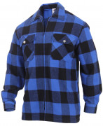 Rothco Concealed Carry Flannel Shirt Blue 3866