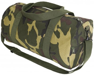 Сумка спортивная дафл Rothco Canvas Shoulder Duffle Bag Woodland Camo 2211, фото