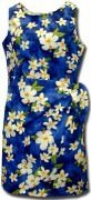 Pacific Legend Hawaiian Sarong Dress - 313-3236 Blue