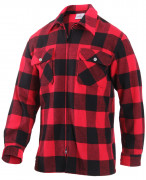 Rothco Concealed Carry Flannel Shirt Red 3966
