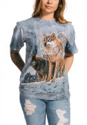 The Mountain T-Shirt Wolf Couple Sunset 105938
