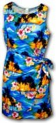 Pacific Legend Hawaiian Sarong Dress - 313-3104 Blue
