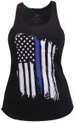 Rothco Women Thin Blue Line Flag Racerback Tank Top 44770