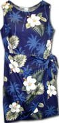 Pacific Legend Hawaiian Sarong Dress - 313-2798 Navy