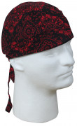 Rothco Trainmen Headwrap Black / Red 55186