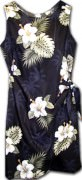 Pacific Legend Hawaiian Sarong Dress - 313-2798 Black