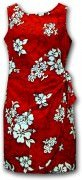 Pacific Legend Hawaiian Sarong Dress - 313-3156 Red