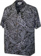 Men's Hawaiian Shirts Allover Prints 410-3868 Black