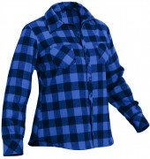 Rothco Womens Plaid Flannel Shirt Blue 5575