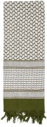 Rothco Shemagh Tactical Desert Scarf Olive/White - 8537