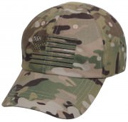 Rothco Tactical Operator Cap With US Flag MultiCam 4363